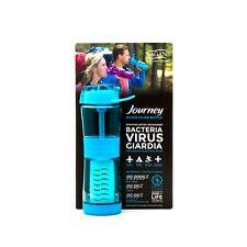 Journey™ Water Bottle & Filter - Blue - REMOVES Bacteria, Virus, Cryptosporidium