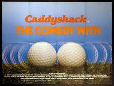 CADDYSHACK BILL MURRAY CHEVY CHASE GOLF 1980 BRITISH QUAD MOVIE POSTER