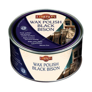 Liberon Black Bison Wax Polish Wood Furniture Woodwork Protection 500ml