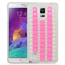 For Samsung Galaxy Note 4 Snap-Fit 3D Diamante Hard Case Back Cover