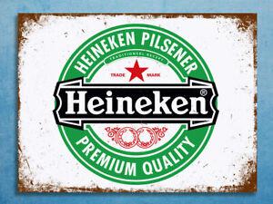 Emaille Blechschild - Heineken Pilsner - Premium Quality-  US IMPORT - 20 x 30cm