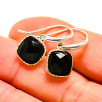 "Black Onyx 925 Sterling Silver Earrings 1"" Ana Co Jewelry E411027F"