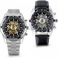 Men Luxury Stainless Steel Automatic Mechanical Wrist Watch Father's Day Gift