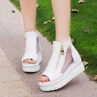 Women Gladiator Open Toe Peep Toe Platform High Heel Sandals Boots Shoes Ankle