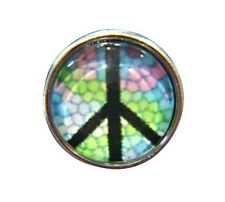 Noosa Style Chunks Mini Ginger Snap On Jewellery Button Charms Peace 12mm