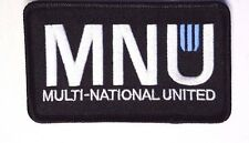 "District 9 Nine Movie MNU Logo Black Embroidered 4""  Patch- FREE S&H (D9PA-004)"