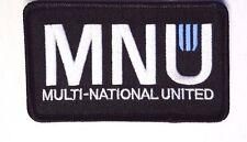 "District 9 Nine Movie MNU Logo Black Embroidered 4""  Patch- FREE S&H (D9PA-004)"