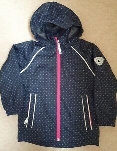 Killtec Girls Rain Coat jacket waterproof windproof detachable hood US age 3-4