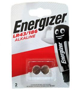 2 x Energizer LR43 1.5v Batteries 186 LR1142 AG12 386