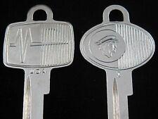 MERCURY MESSENGER KEY BLANK SET 1952-1964 Ignition & Trunk NOS Vintage