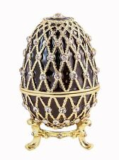 Bejeweled Egg Trinket Box Hand Made with Swarovski Crystals & Enamel. With Stand