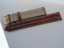 Omega Brown 18mm Alligator Strap including buckle