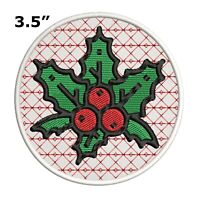 MEET ME UNDER THE MISTLETOE Christmas Embroidered Patch Iron-On or Sew-On