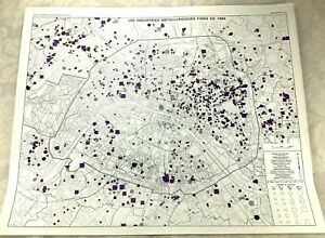 1967 Vintage Map of Paris France Jewellery Manufacturing Watchmakers Photography