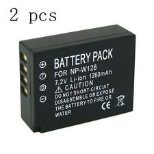 2 Pack Decoded Battery for FUJI Fujifilm NP-W126 BC-W126 FinePix HS30 HS30EXR
