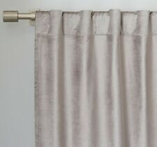 "Luster Velvet Curtain 48W""x108L"" in Platinum from West Elm/Pottery Barn"