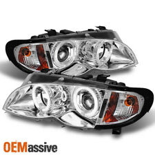 Fits 2002-2005 BMW E46 3-Series Sedan Halo Projector Headlights +Build in Corner