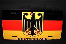 GERMAN FLAG METAL NOVELTY LICENSE PLATE TAG  Deutschlandfahne Bundesflagge