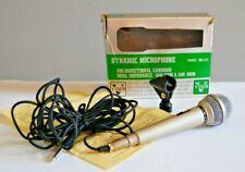 Vintage Vanco Dynamic Microphone Model MD-373 Silver Cardioid Japan