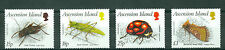 Ascension Island 1988, Bugs,Cricket,Golden Plusia,Moth,Insects SC#459-62 MNH 580