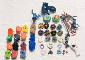 Lot 16 Beyblades!!! Metal Burst!! Cords! Electronic! More!!!!