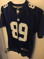 NEW YORK GIANTS REEBOK #89 KEVIN BOSS JERSEY - YOUTH MEDIUM (10-12)