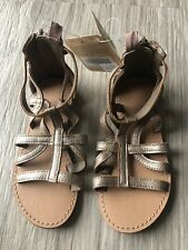 Little Criança Meninas sandálias de tiras Gladiador Com Zíper aberto Toe Flats Sapatos