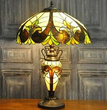 Tiffany Table Light Handmade Glass Shade Large Colored Lampshade Hall Desk Lamp