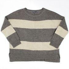 Vince Rugby Stripe Boatneck Sweater Yak Wool 73442 Medium Women's