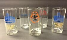 Vintage Hard To Find Casino Glasses Overland Harrahs Nevada Lodge HTF Set of 5