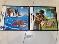 NDS Legend of Zelda Set Phantom Hourglass Spirit Tracks Nintendo DS Game Japan