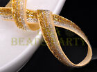 """10yards 3/8"""" 10mm Bling Ribbon Bows Wedding Party Decoration Sew Gold Silver"""