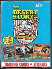 1991 TOPPS DESERT STORM~36 SEALED WAX PACKS Box