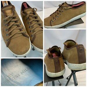 Peter Millar Fashion Sneakers Sz 11 Men Brown Suede Lace Brazil EUC YGI C1S-23