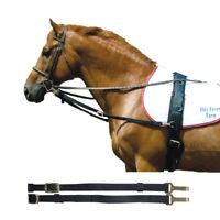 Intrepid International NEW Side Reins - Nylon with Elastic Black Horse Training