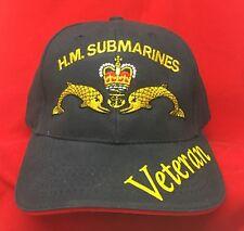 HM SUBMARINES Dolphins Veteran Royal Navy Baseball Hat Cap