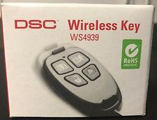 Brand New DSC WS4939 Wireless 4-Button Remote Alarm Keyfob, Battery included