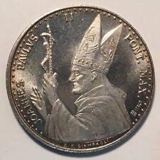 Pope John Paul II/Pieta Medal, Silver Plated (?)