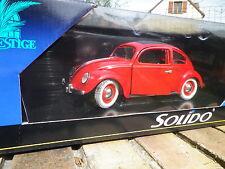SOLIDO 1/18em: VW COCCINELLE grande fenêtre, rouge, roues rouges neuf en boite