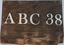 Edelstahl Buchstaben Zahlen exklusiv hochwertig 3mm Dicke schöne Schriftart Deko