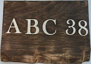 Buchstaben Zahlen Hausnummer aus Edelstahl exklusiv hochwertig Dicke 0,3 cm Deko