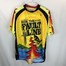 622a3356a Primal Mens Ride The Fault Line New Madrid Bike Jersey 4XL Full Zip Short  Sleeve