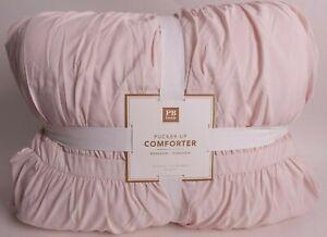 NWT Pottery Barn PB Teen Pucker Up FQ comforter, powdered blush, full queen f/q