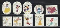 JAPAN 2012 DISNEY CHARACTER GREETING 80 YEN COMP. SET OF 10 STAMPS IN FINE USED