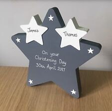 Personalised wooden Star, Baby, Occassion , Mum, Dad, Lovely Gift, Hand Painted