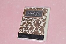 Brown faux Velvet THANK YOU Scripture Card, Small NIP FREE SHIPPING!