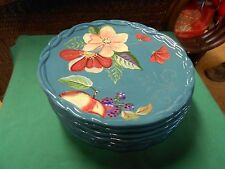 """Beautiful Dinnerware TRACY """"The Blossom Collection"""" Set of 7 DINNER Plates"""