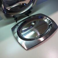 "Stainless Serving Platters / Set Of Two / ""Progressive International"" / Stunning"