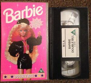 BARBIE:DOUBLE BILL-ANIMATED-CHILDREN'S-VHS SMALL BOX-MIA VIDEO.
