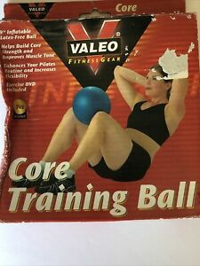 """Valeo 9"""" Core Training Ball for Strength, Conditioning, DVD Included"""